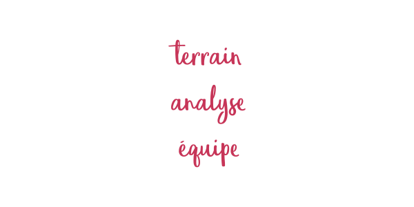 Terrain, analyse, équipe
