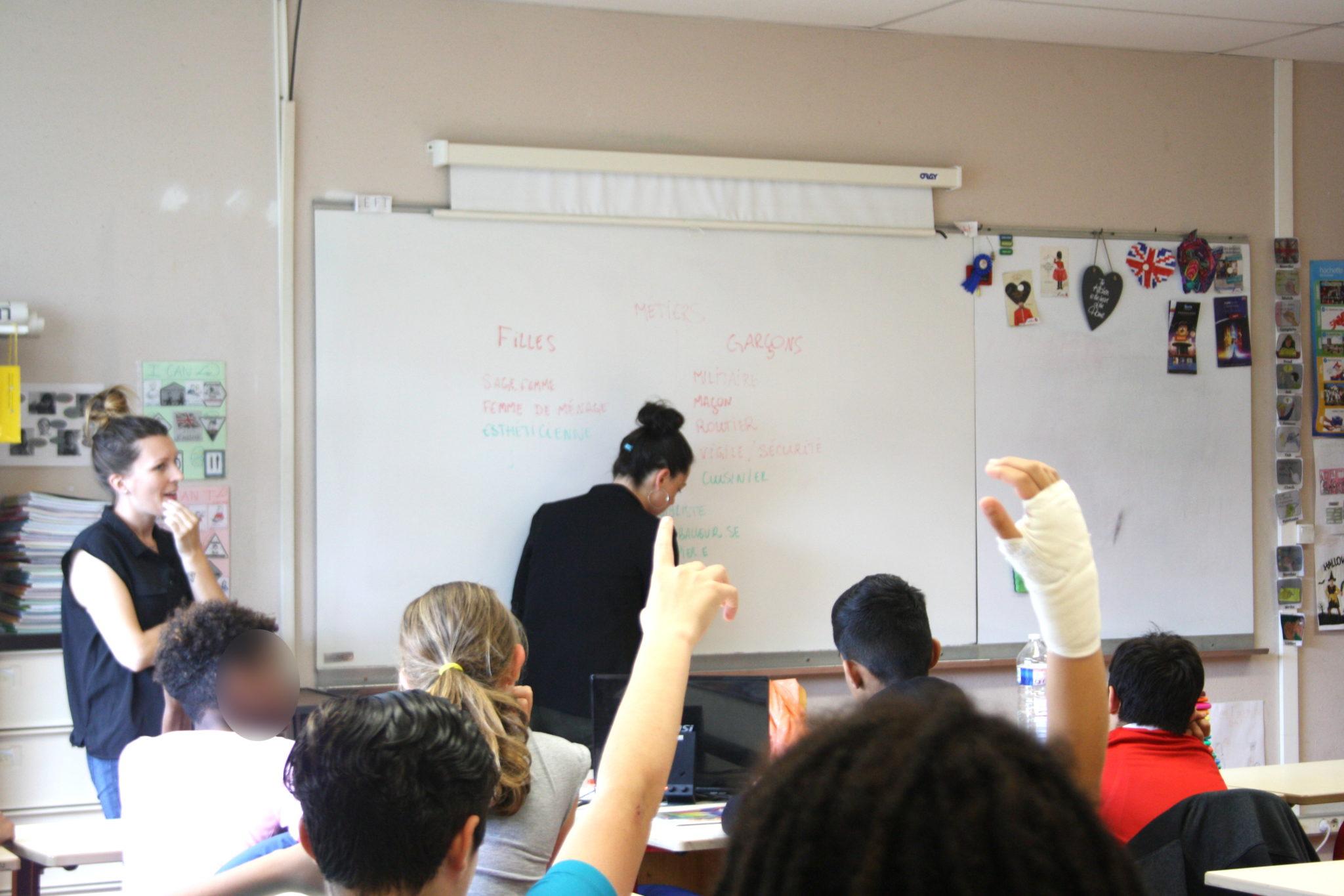 Pour les élèves, quels sont métiers davantage féminins ou masculins ?