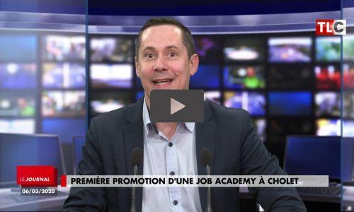 Première promotion de la Job Academy de Cholet.  Télévision Locale du Choletais, 6 mars 2020. Crédit photo : TLC